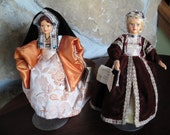 Queen Historical Costume Dolls, Renaissance, Queens of Henry VIII, Anne Cleves, Catherine of Aragon, Mother of Queen Mary, Peggy Nisbet, 8""