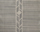 Biased in Charcoal Grey : organic linen / organic cotton handprinted fabric panel black grey