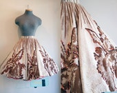 Reserved! 1950's Sequin Full Circle Skirt / California Made / Size Small