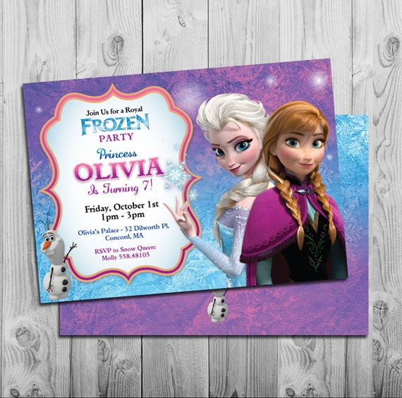Frozen Birthday Invitation Printable Frozen Birthday Party