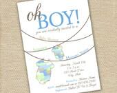 Camo Baby Shower Invite - Printable
