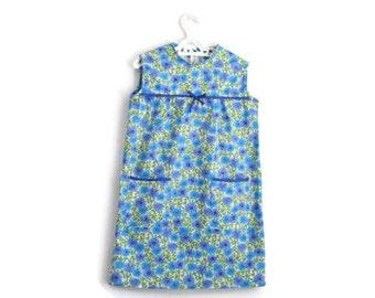 Girls Dress, Little Girls Dress, Girls Vintage Dress, Girls Flower Dress