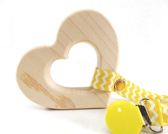 Heart Baby Toy - Wooden Teether - Personalized Wood Toys