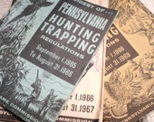 Vintage Books, Miniature Library, Hunting, Trapping, Pennsylvania Game Commission, 1965-1980, 19 Books Total, Set, All Vintage Man