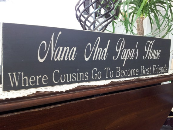 Create Your Own Wood Sign Grandparents Sign Nana And
