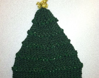 Baby Christmas tree hat.