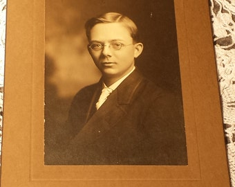 Vintage Photograph Young Man 4 X 6 inches