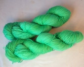 Test Green on Max 80/20 SW Merino Nylon Hand dyed fingering weight sock yarn