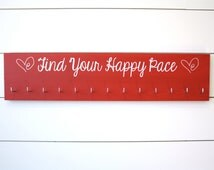 Running Medal Holder - Find Your Happy Pace - Large