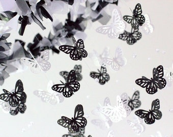Black & White Butterfly Nursery Mobile- Photography Prop,  Baby Shower Gift, Nursery Decor