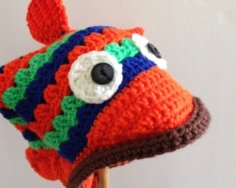 Crochet Fish Hat Newborn Baby Child Adult