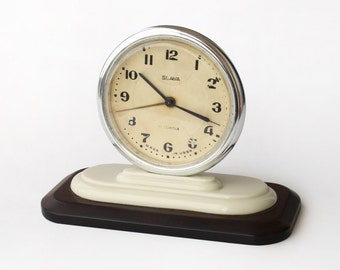 Vintage Russian Alarm Clock Slava, Working Retro Desk Clock, Soviet Alarm Clock