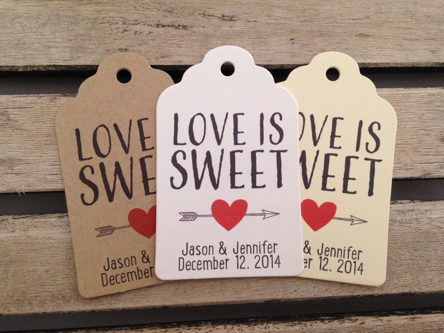 Wedding Gift Tags Love Is Sweet Wedding by FiendishPaperThingy