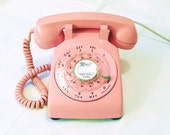 Pink Rotary Telephone -  Working Rotary Dial Phone