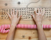 Christmas Candy Cane - Unique Gift - Keyboard Wrist Rest