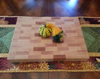 End Grain Maple Cutting Board / Butcher Block