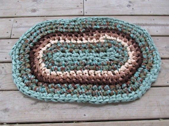 Tappeti Bagno A Uncinetto : Sirena tappeto all uncinetto rag rug ovale ...