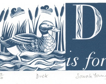 D is for Duck - Alphabet Silkscreen Print