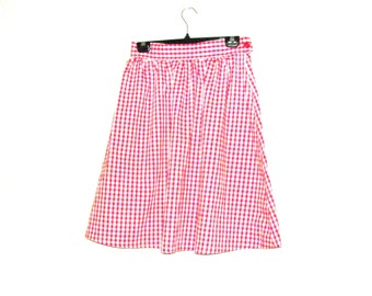 Check Skirt, Skirts, Red Skirt, Knee Length Dress, Circle Skirts, By Rebeccas Clothes