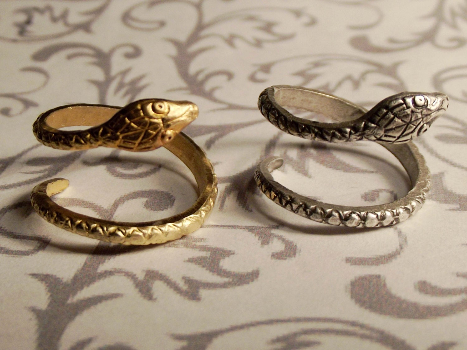 Snake Ring // Silver or Gold // Adjustable steampunk buy now online