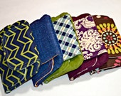 5 Pack Set of Zip & Go Mobile Pouches - Perfect for Bridesmaids Gifts!