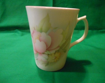 One (1), Bone China Mug, from Jason Works, Nanrich Pottery, in a Floral Pattern.