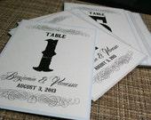 Vintage Wedding Table Numbers - DIGITAL - Reception - Vintage Scroll Collection - Rustic - Recycled - Eco - Printed or DIY Printable File