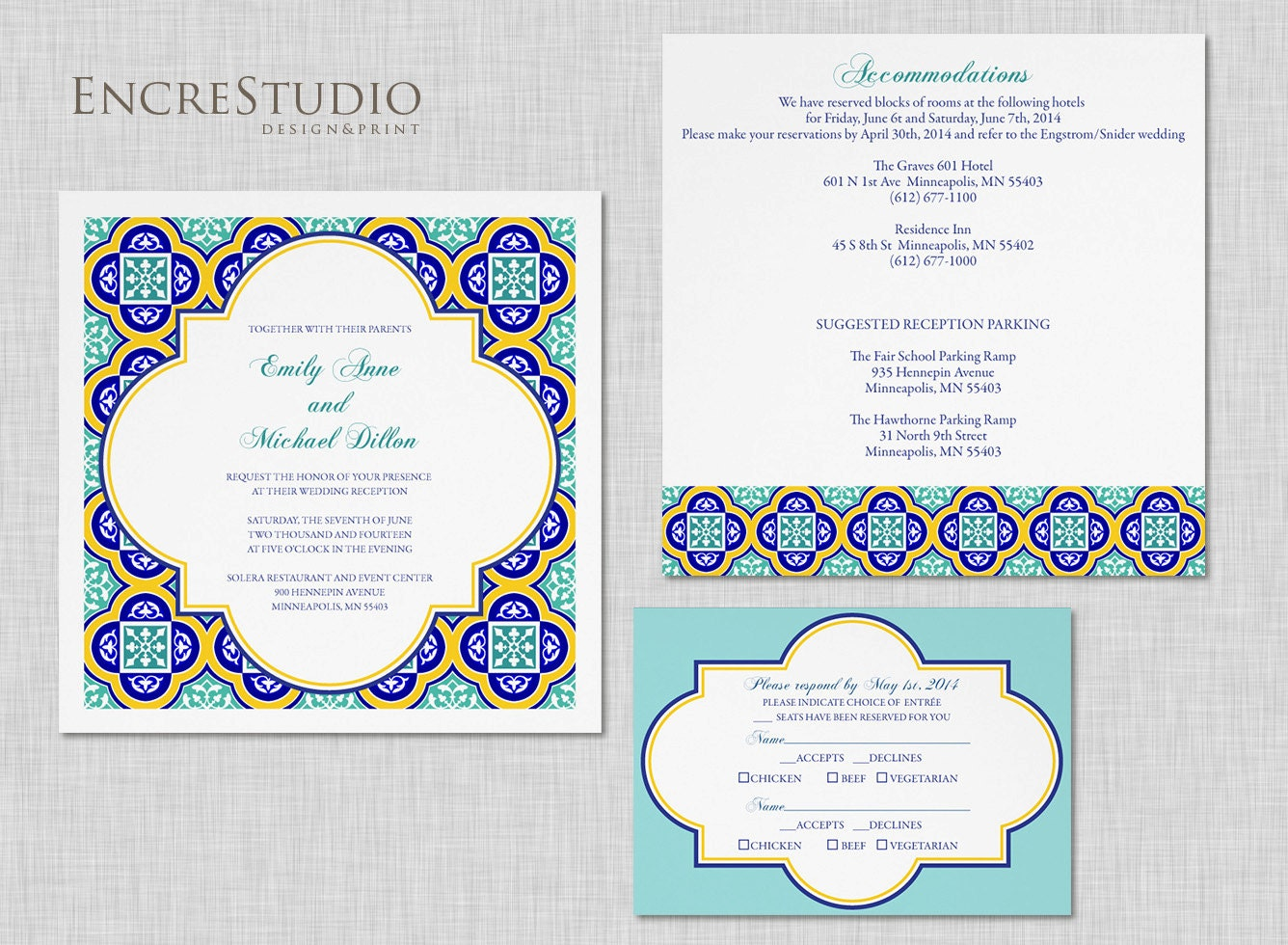 Wedding Invitation In Spanish Wording: Printable Spanish Tiles Wedding Invitation