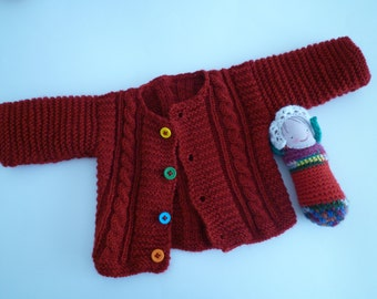 Baby Christmas sweaterş knit baby sweater,red baby sweater