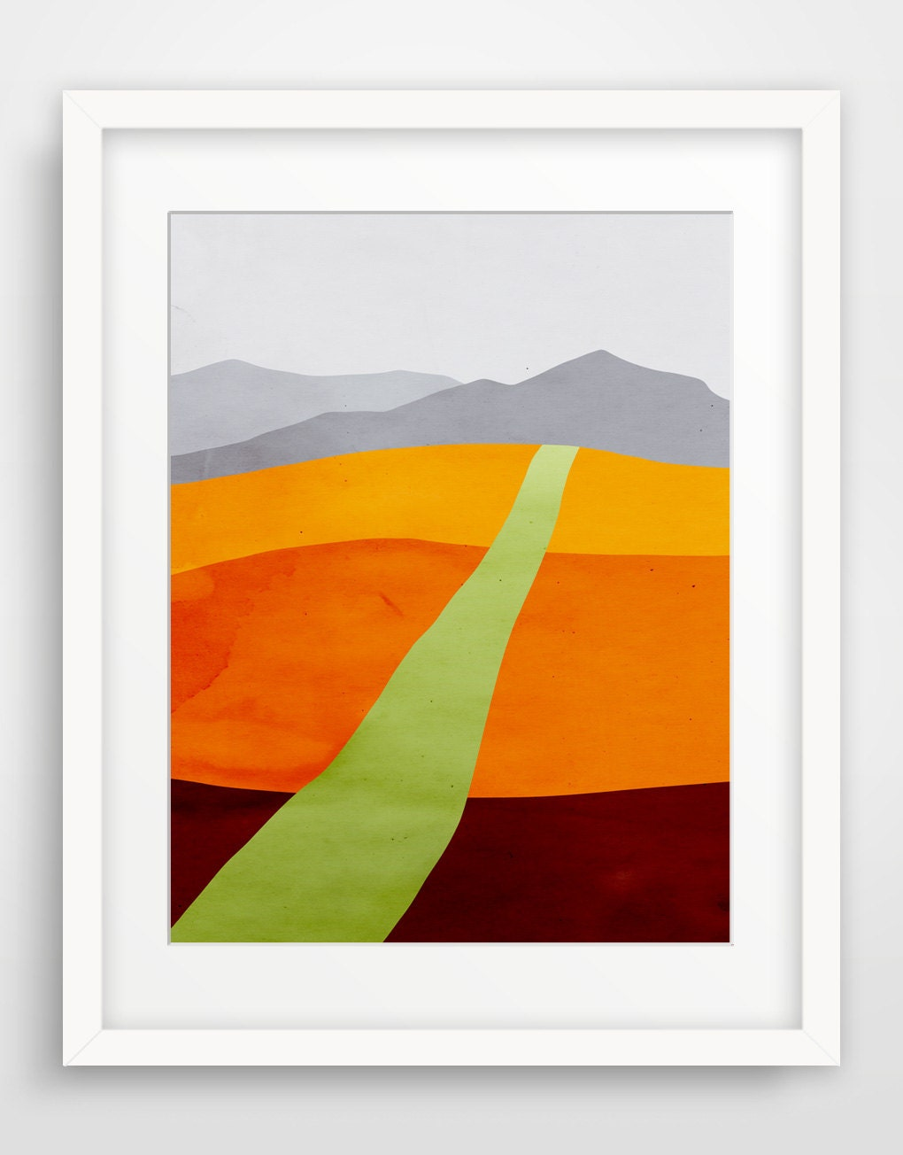 Abstract landscape art print large wall art mid century art for Abstract posters for sale