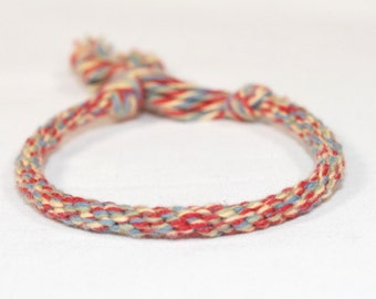 Childrens Bracelet Kumihimo Baby Boy Toddler Cotton Fibre Red Yellow Grey Kids Jewelry