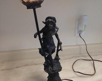 rench Art Nouveau Lady Lamp Signed L ETE and Vestale