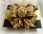 Black and golden holiday gift box