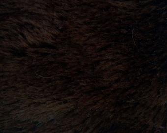 Brown Minky Mini Shaggy 54 Inch Wide Fabric by the Yard, 1 yard