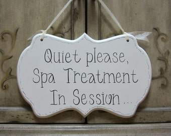Hand Painted Wooden Sign Treatment Room