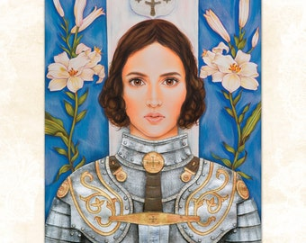 LARGE 'Joan of Arc' print by rose raven