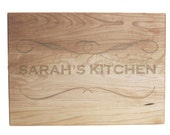 Wedding Gift Personalized Cutting Board 10x14 Maple Custom Laser Engraved
