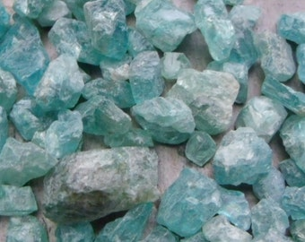 Natural Raw Blue Apatite - 5 grams or 1 ounce