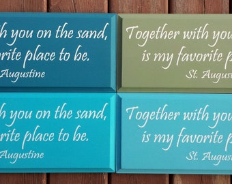 Together With You on the Sand CUSTOM Sign