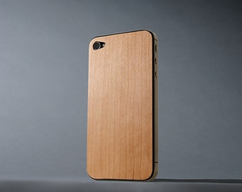Cherry iPhone 4/4s Real Wood Skin - Made in the USA - FREE Shipping