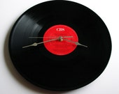"Bruce Springsteen Vinyl Record CLOCK made from Original recycled album LP ""Tunnel Of Love"" For mum dad boyfriend girlfriend anniversary gift"