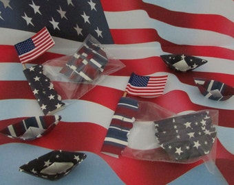 36 paper boats origami decoration 4th of July patriotic party barbecue celebration military wedding marines