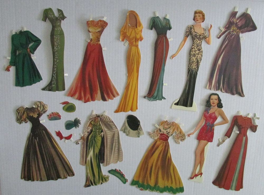 Vintage Movie Star Celebrity Paper Dolls Shackman Collection