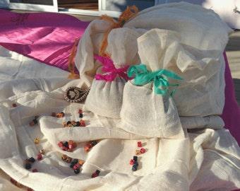 Organic Cotton Pajama/Lingerie Pouch