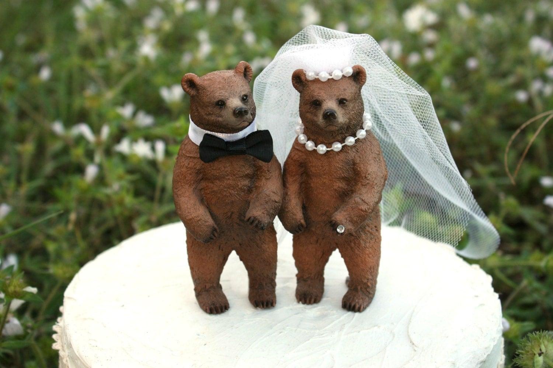 Bear Wedding Cake Topper Lover Rustic