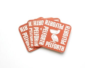 Vintage Pelforth Beer Coasters - Set of 4
