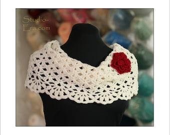 PATTERN - Crochet - Neck Warmer/Cowl with a 3D Flower