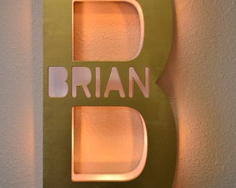 Marquee Light - Personalized Name Light  Kids Bedroom Lamp  Letter Light Marquee Letter Personalized Family Name Sign, Kids Lamp, Night Lamp