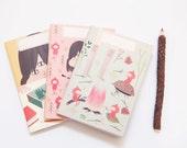 Eco Notebooks -Mini Notebook Set- Travel Notebook - Note-book - Pocket Notebook - Ecofriendly