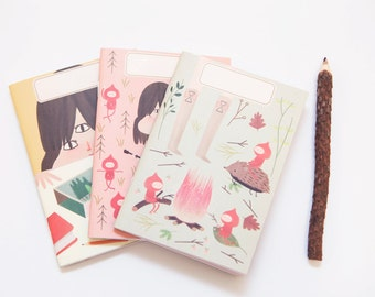 Eco Notebooks -Mini Notebook Set- Travel Notebook - Note-book - Pocket Notebook - Ecofriendly